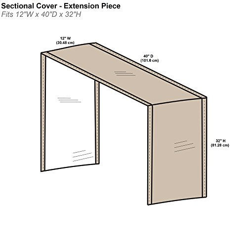 "Protective Covers Extension Sectional Covers, 12""/One Size, Tan"