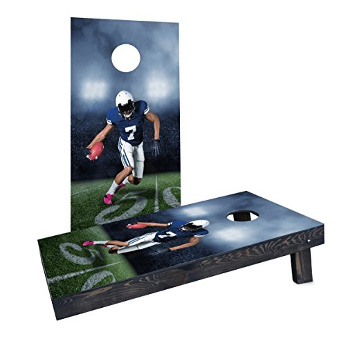 Custom Cornhole Boards Incorporated CCB111-2x4-AW-RH Football Player Running with Ball Cornhole Boards by Custom Cornhole Boards Incorporated