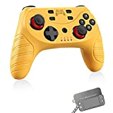 Wireless Switch Pro Controller for Nintendo Switch/Switch Lite,Switch Remote Joypad Control Games Joystick for Switch Console with Turbo,Gyro Axis,Motion & Vibration Shock,Work with Bluetooth(Yellow) (Color: Yellow)