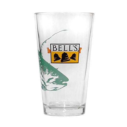 Bells Brewing 16 oz Beer Pint Glass Two-Hearted Ale (Pint Glasses Bells)