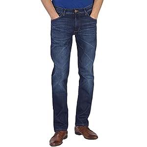 Wrangler Greensboro Mens Modern Straight Leg Denim Jeans
