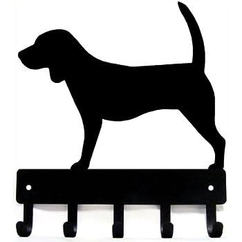 "Doberman Pinscher Dog Leash Hanger Metal Wall Key Rack 5 Hooks Sm 6/"" Cropped"
