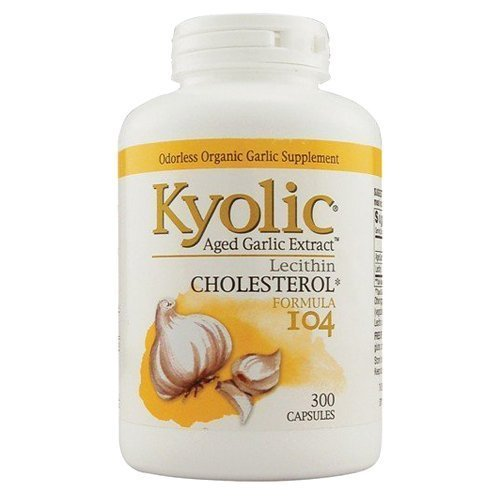 Kyolic #104 Garlic Extract With Lecithn 300 cap ( two-Pack)