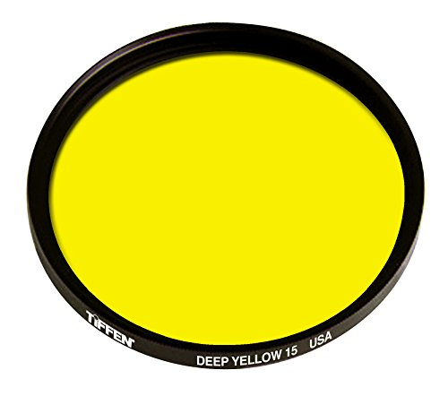Tiffen 138mm Deep Yellow #15 Glass Filter for Black & White Film