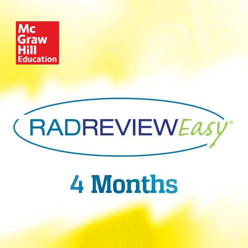 RadReviewEasy, 4 Month by McGraw-Hill Education