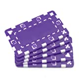 Brybelly 5 Rectangular Poker Chips - European Style Plaque (Purple)
