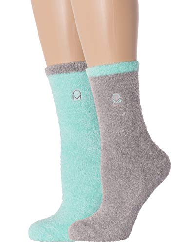 2-Pairs Womens Noble Mount Soft Anti-Skid Winter Feather Socks - Set ()