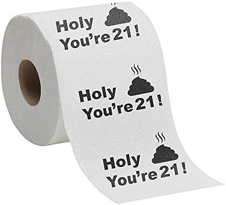 21st Birthday Gift Present Toilet Paper Happy Twenty First 21 Prank Funny Novelty Gag Joke Gift Holy Crap Amazon Sg Office School Supplies