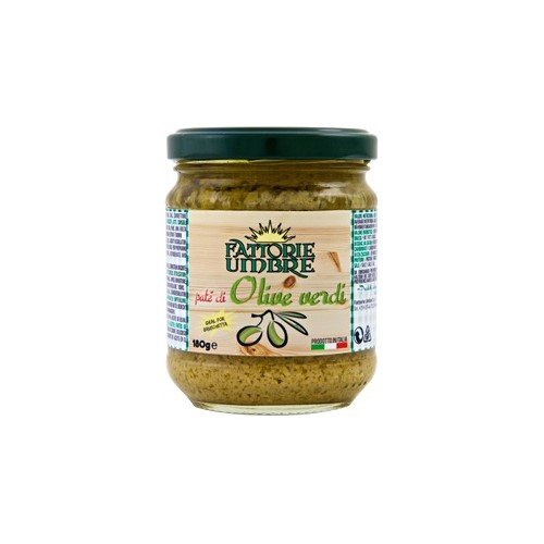 Green Olive Tapenade by Fattorie Umbre (180 gram) (Green Olive Tapenade)