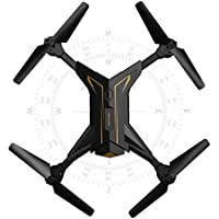 Binmer(TM) Foldable Headless RC Drone 2.4Ghz 4CH 6Axis Gyro RC Quadcopter W/ Camera KY601 (Gold)