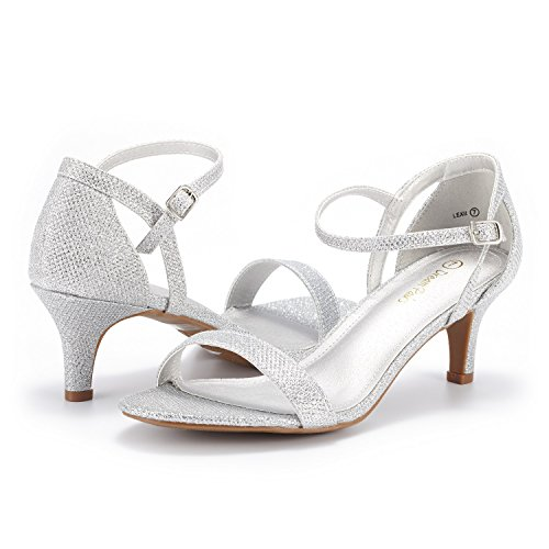 DREAM PAIRS Women's LEXII Silver Glitter Fashion Stilettos Open Toe Pump Heel Sandals Size 11 B(M) US by DREAM PAIRS (Image #3)