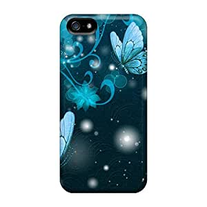 For Iphone Cases, High Quality Shine Of Cyan For Iphone 5/5s Covers Cases