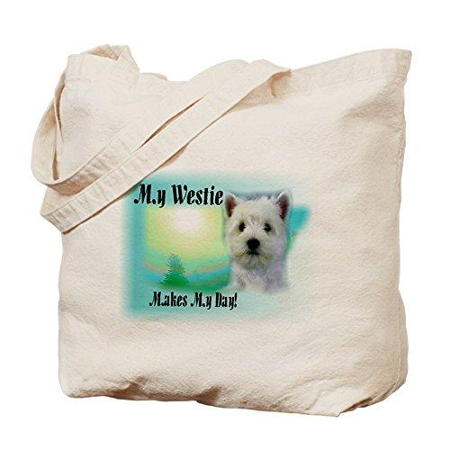 Cafepress–West Highland White terrier–Borsa di tela naturale, tessuto in iuta