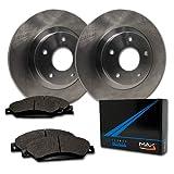 Max Brakes Front OE Series Rotors w/Metallic Pads Premium Brake Kit TA060641 | Fits: 2004 04 2005 05 2006 06 2007 07 Ford Freestar
