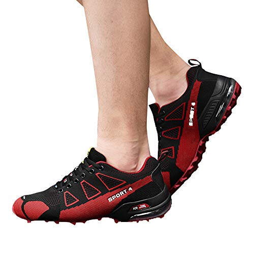 Leggero Rosso All'aperto Alpinismo uomini Traspirante Ginnastica Da Scarpe Sportive Allacciare Scarpa Uomo SPxpn60wq