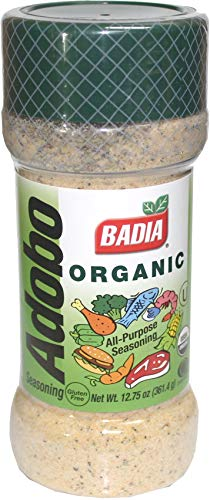 (Badia Organic Adobo latin seasoning 12.75 oz, Kosher, GF, No MSG)