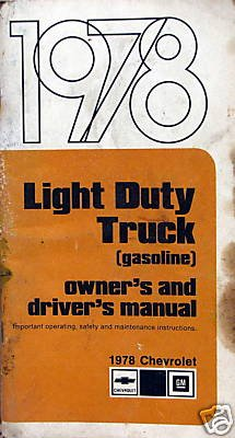 1978 Chevrolet Light Truck Owners & Drivers Manual -3 ()