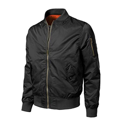 Slim Autumn Jacket Jacket Jacket Lightweight Outerwear Fashion Winter Bomber Outwear Adelina Jacket Biker Men's Down Bomber Flight Fit Schwarz Jacket Slim Solid CwxqfSSpEX