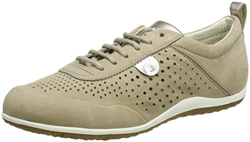 - Geox Women's Vega 21 Lightweight Suede Sneaker Beige, 38 Medium EU (8 US)