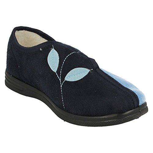 Con azul Marino Cuña Sandpiper Azul Mujer Sandalias zgYYx