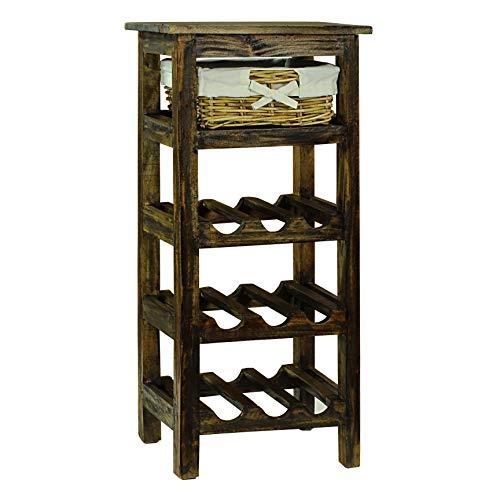 (Antique Revival ICB018A BRN Porthos Home Monet Wine Rack, Brown)