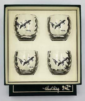 Hunting & Wildlife Series, 4pc Federal Duck Stamp Roly Poly Glasses - Federal Glass Glass Pitcher