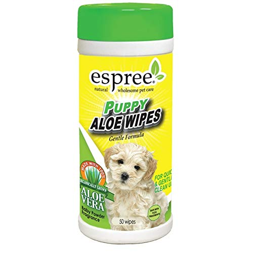 Espree Puppy Aloe Wipes 50/Pack (21 Pack)
