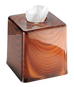 Mdesign Facial Tissue Box Cover Holder For Bathroom Vanity Countertops Brown