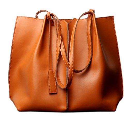 Donna Tracolla Shopper Nuove Saierlong Pelle Borse E A Genuina Marrone HBzqcTcE
