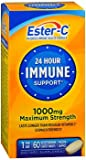 Ester-C 24 Hour Immune Support 1000 mg Maximum Strength Vegetarian Tablets - 60ct, Pack of 6
