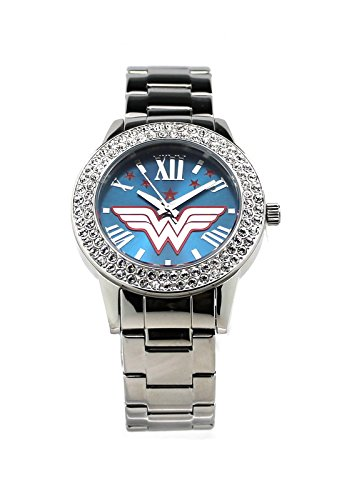"Woman Wonder Costume Bvs (Wonder Woman ""Justice"" Silver-tone Watch)"