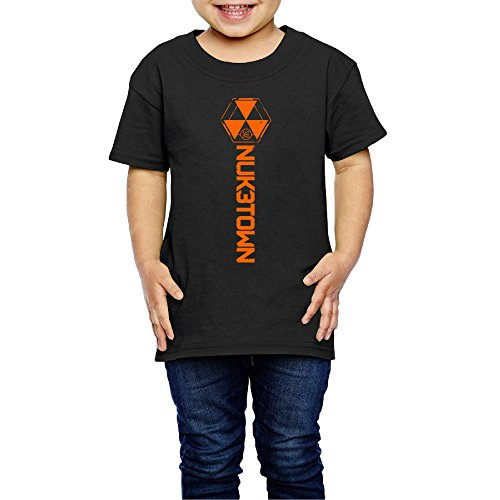 AK79 Children 2-6 Years Old Boys And Girls T Shirt Call Black Ops Logo Duty Black Size 2 Toddler