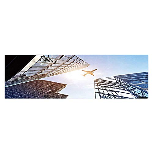 Dragonhome Background Decoration Plane Fly Over Glass and Steel Office Builds Near potsdamer Home Decoration L35.4 x H15.7