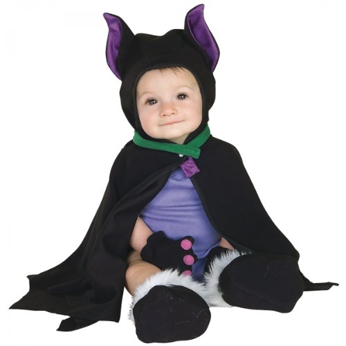 Rubie's Costume Co LIL BAT CAPED COSTUME 3-12 MOS,Black,Infant -