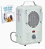 Dorm Room Heater Floor Fan Thermostat Portable Small Electric Low Heat Quiet Room Power Circulation Office Indoor Small & Ebook by AllTim3Shopping.