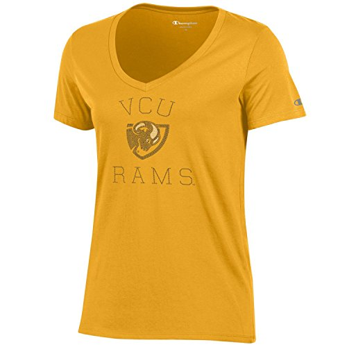 (NCAA Champion Women's University Short Sleeve V-Neck T-Shirt Virginia Commonwealth Rams Large )