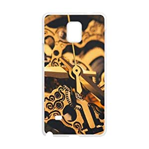 Samsung Galaxy Note 4 Cell Phone Case White Watches Machinery Gear Gold VIU064182