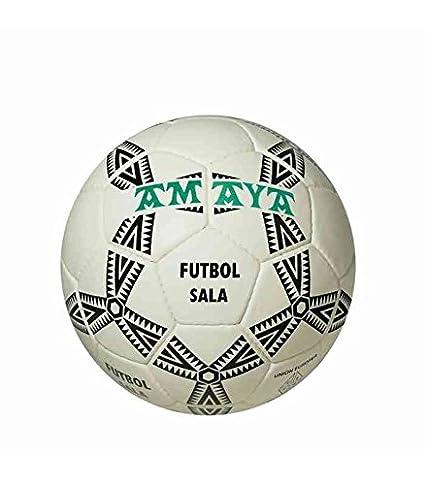 BALON AMAYA DE FUTBOL SALA SENIOR CUERO CLARINO COSIDO N 4: Amazon ...