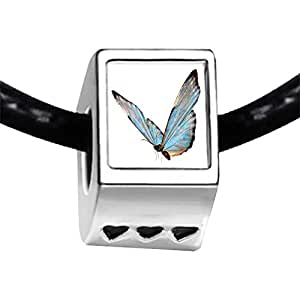 Chicforest Silver Plated Beautiful Lovely Butterfly Photo Three Heart Charm Beads Fits Pandora Charm