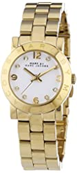 Marc by Marc Jacobs Women's MBM3057 Mini Amy Gold-Tone Stainless Steel Watch with Link Bracelet