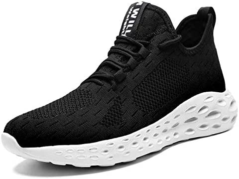 Hetohec Slip On Running Sneakers Men Breathable Lightweight Comfortable Fashion Non Slip Shoes for Men