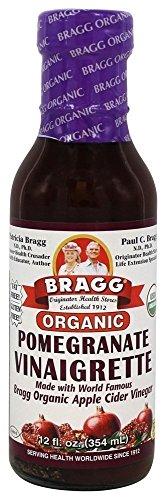 Bragg USDA Organic Pomegranate Vinaigrette Dressing 12 oz | 1 Pack