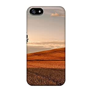Hot Tpu Cover Case For Iphone/ 5/5s Case Cover Skin - The Tree In The Golden Fields