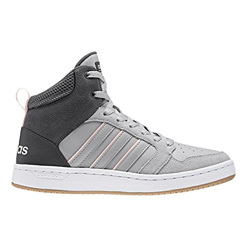 Image of the adidas NEO Women's CF Superhoops Mid W Basketball-Shoes, White/White/Matte Silver, 9 M US