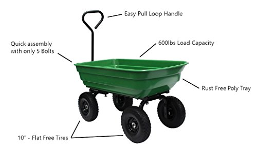 garden-star-70275-garden-wagonyard-cart-with-flat-free-tires-37-x-20-poly-tray-600lb-capacity
