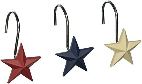Avanti Linens 13218GMUL Texas Star Shower Hooks, Medium, Multicolor