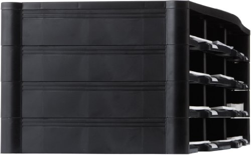 Storex 12-Compartment Literature Organizer/Document Sorter, 31.38 x 14.13 x 10.5 Inches, Black (61432U01C) Photo #2