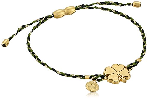 4 Leaf Clover Bracelet (Alex and Ani Precious Threads, Four Leaf Clover, Thicket Braid, 14kt Gold Plated Bangle Bracelet)