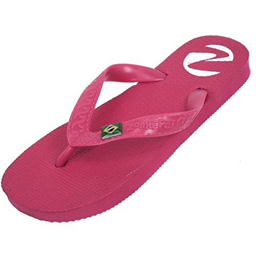 Fushia Tong Pop Claquettes Tongs Zonkepai Fuschia Wn0xp7qw0a