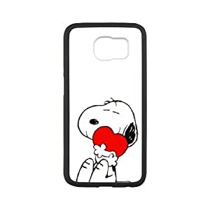 Samsung Galaxy S6 Cell Phone Case White Charlie Brown and Snoopy dciv